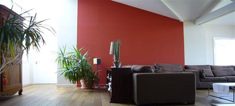inspiration salon rouge brique deco ch rie peinture salon salon et couleur peinture. Black Bedroom Furniture Sets. Home Design Ideas