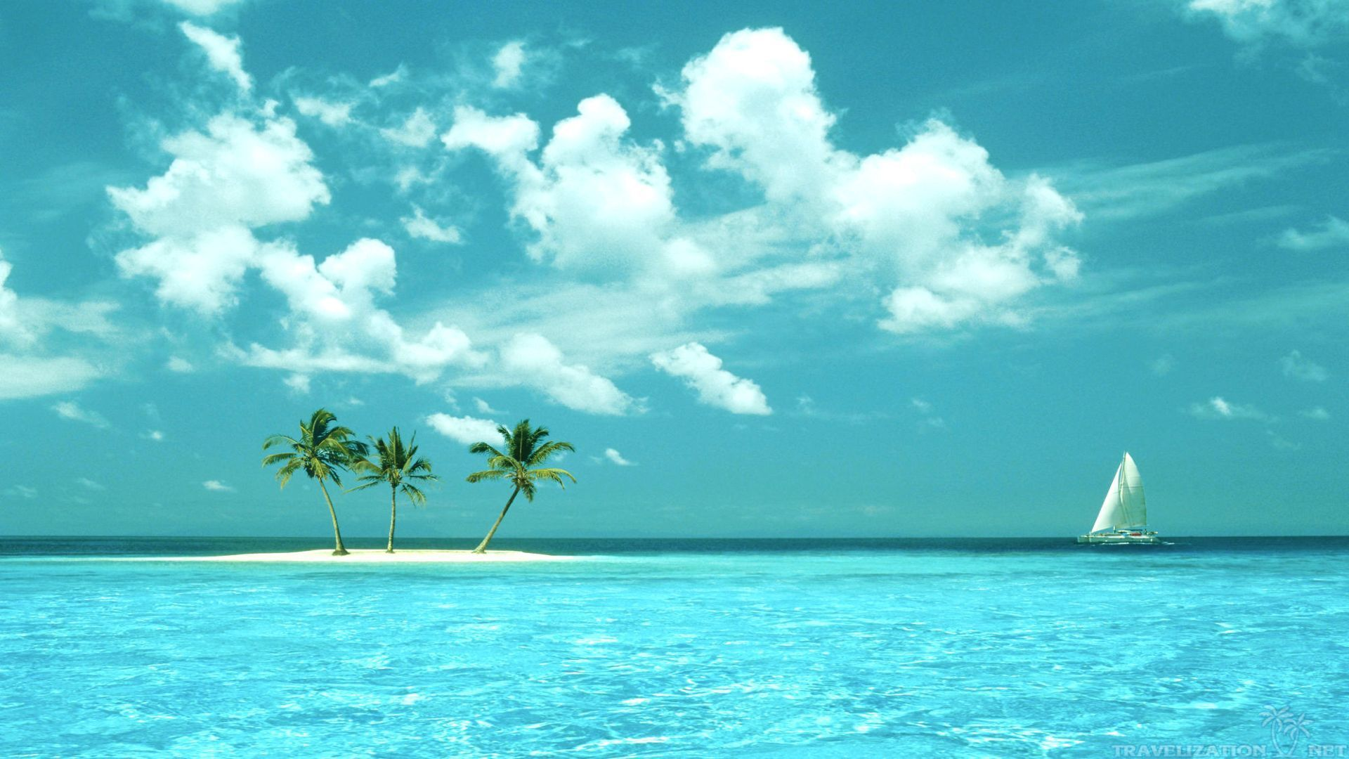 Hd Tropical Island Beach Paradise Wallpapers And Backgrounds: Water Bungalows On A Tropical Island HD Desktop Wallpaper
