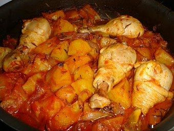 Photo of The recipe for stewed chicken with potatoes, a second comp …