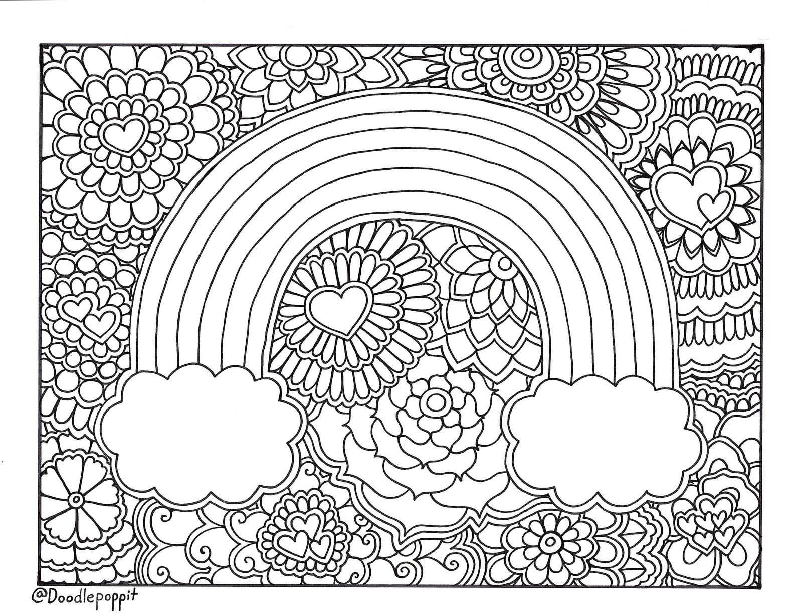 Rainbow Pride Coloring Page Coloring Book Page Printable Etsy In 2020 Detailed Coloring Pages Unicorn Coloring Pages Coloring Book Pages