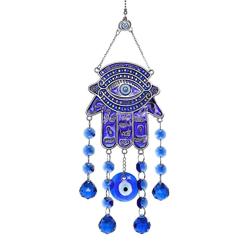 Blue Evil Eye Amulet Protection Turkish Wall-Hanging Blessing Gift Lucky Pendant