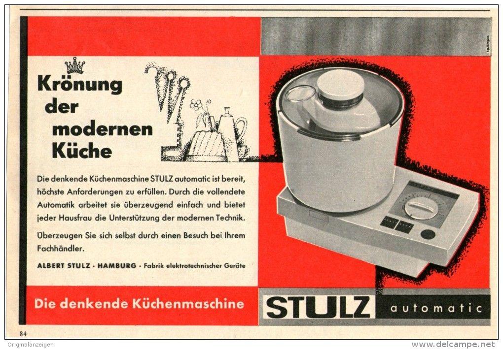 Original-Werbung/Inserat/ Anzeige 1960 - STULZ KÜCHENMASCHINE ca. 140 x 210 mm