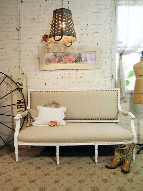 Painted Cottage Chic Shabby White Romantic By