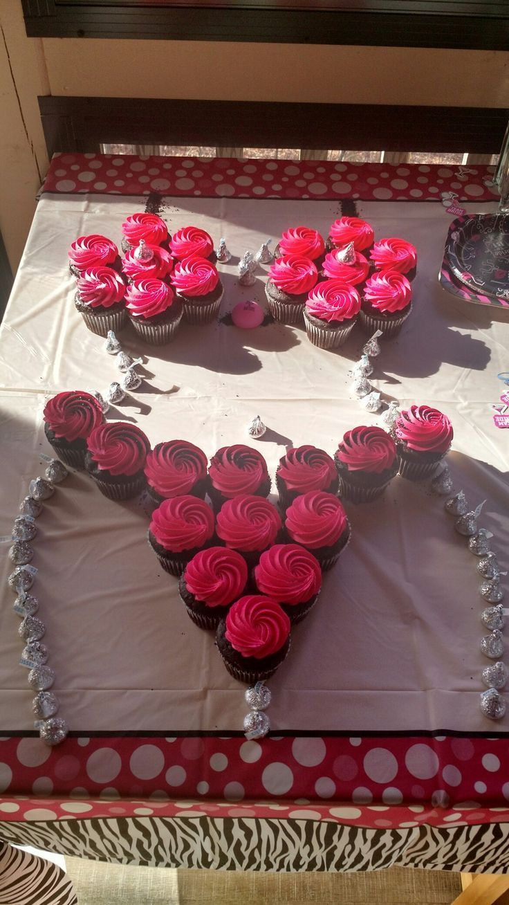 Cupcakes in shape of bra and pantie for lingerie shower