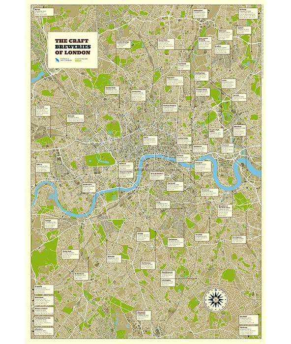 show details for craft breweries of london map