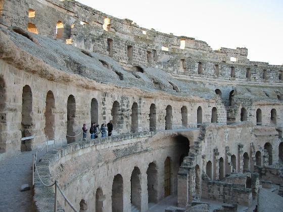 Amphitheatre of El Jem, Tunisia.