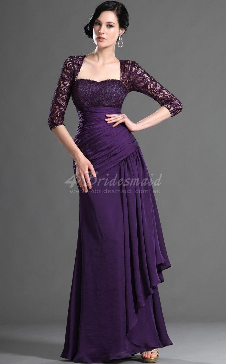 Purple Bridesmaid Dresses With Sleeves Images - Braidsmaid Dress ...