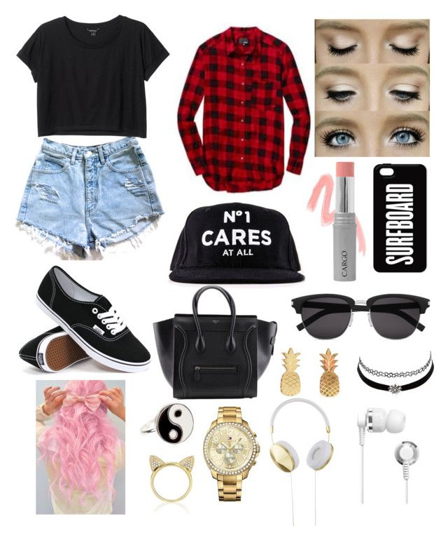 """a day on the town with jack g"" by karis426 ❤ liked on Polyvore featuring Monki, Vans, CARGO, Yves Saint Laurent, Vinca, Charlotte Russe, Accessorize, Aamaya by priyanka, Tommy Hilfiger and Frends"