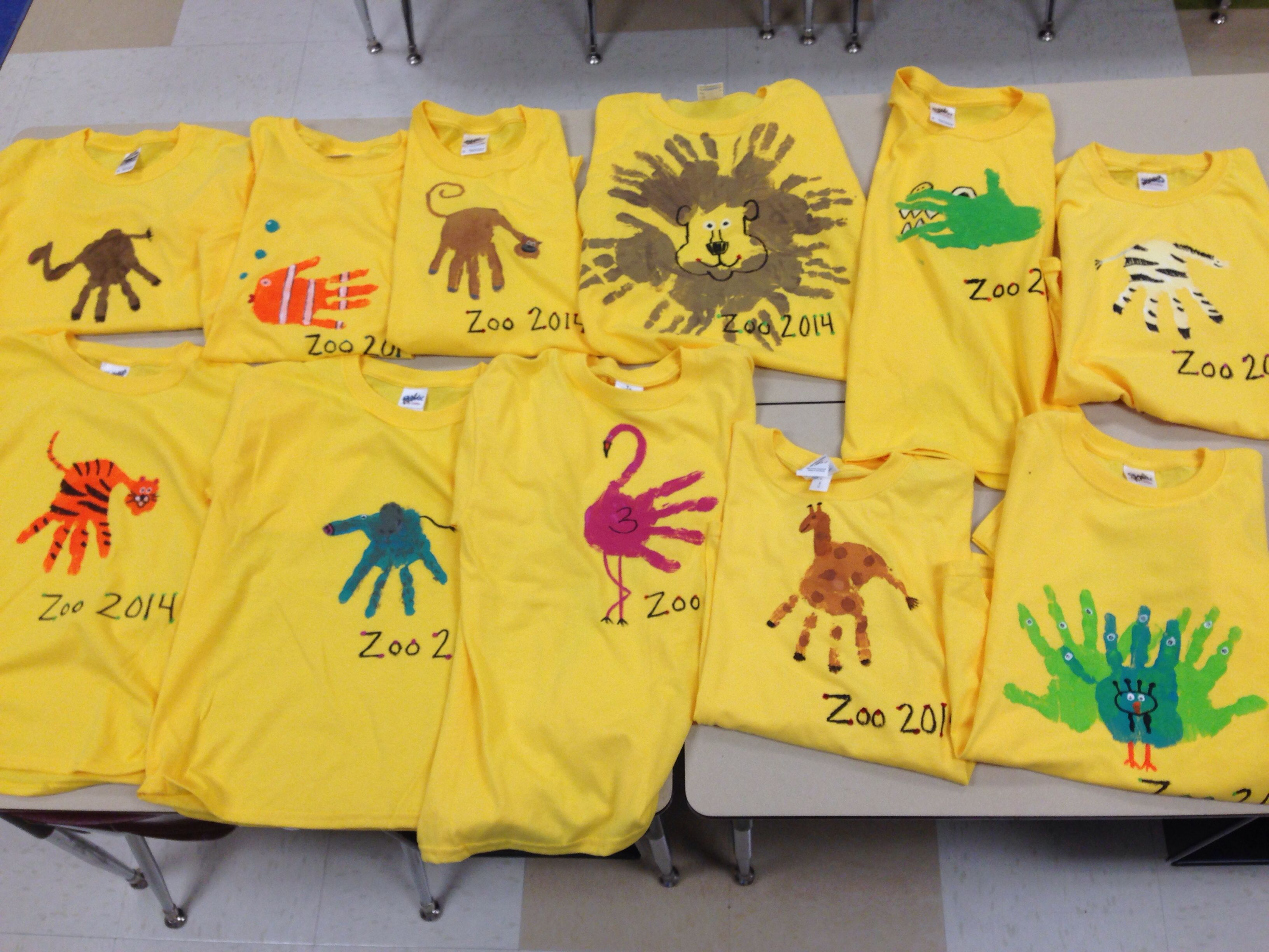 Zoo Themed Field Trip Shirts