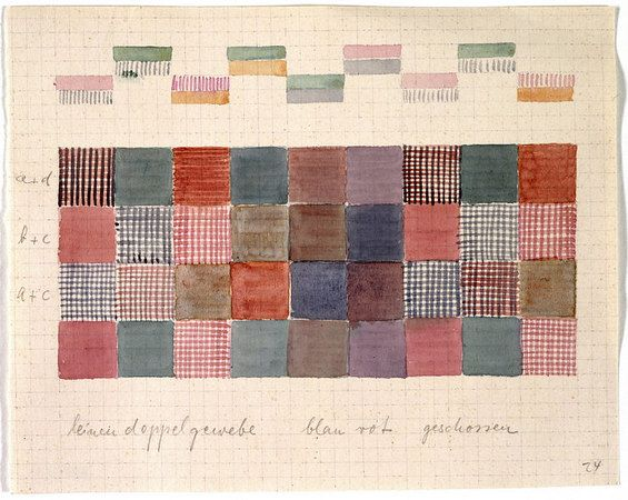 Design for a double-weave in linen 16.7x21 cm Bauhaus-Archiv, Berlin