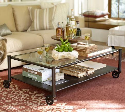 Merveilleux Robert Industrial Coffee Table  Pottery Barn