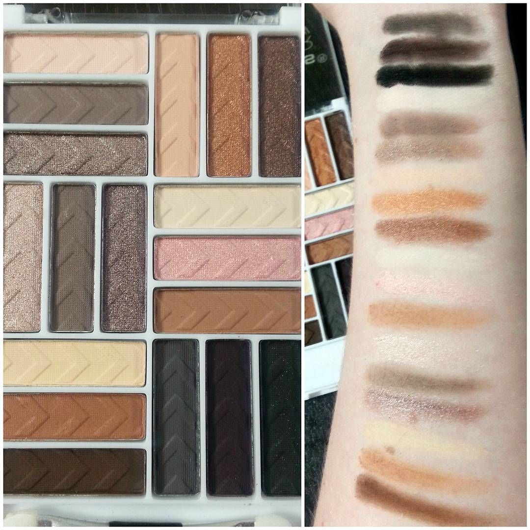 La Colors Cosmetics 18 Color Eyeshadow Palette In Downtown Brown 5 Matte Found At Family Dollar New