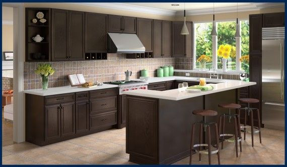 Best Pin By A1K Us On Kitchens Cabinets Espresso Kitchen 400 x 300