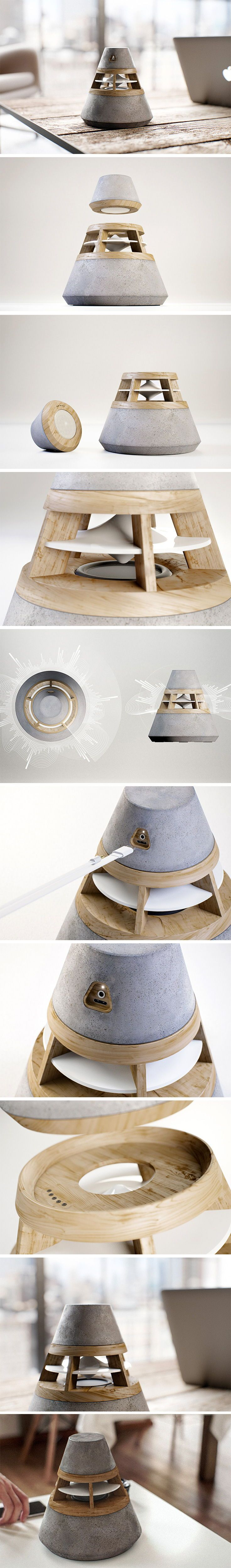 One 360 Degree Modular Speaker Out Of 2 Portable In 2020 Tech Design Design Gym Design