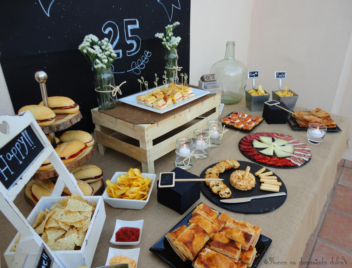 Mesa salada estilo r stico nunca es demasiado dulce pinterest estilo r stico r stico y mesas - Decoracion de canapes ...