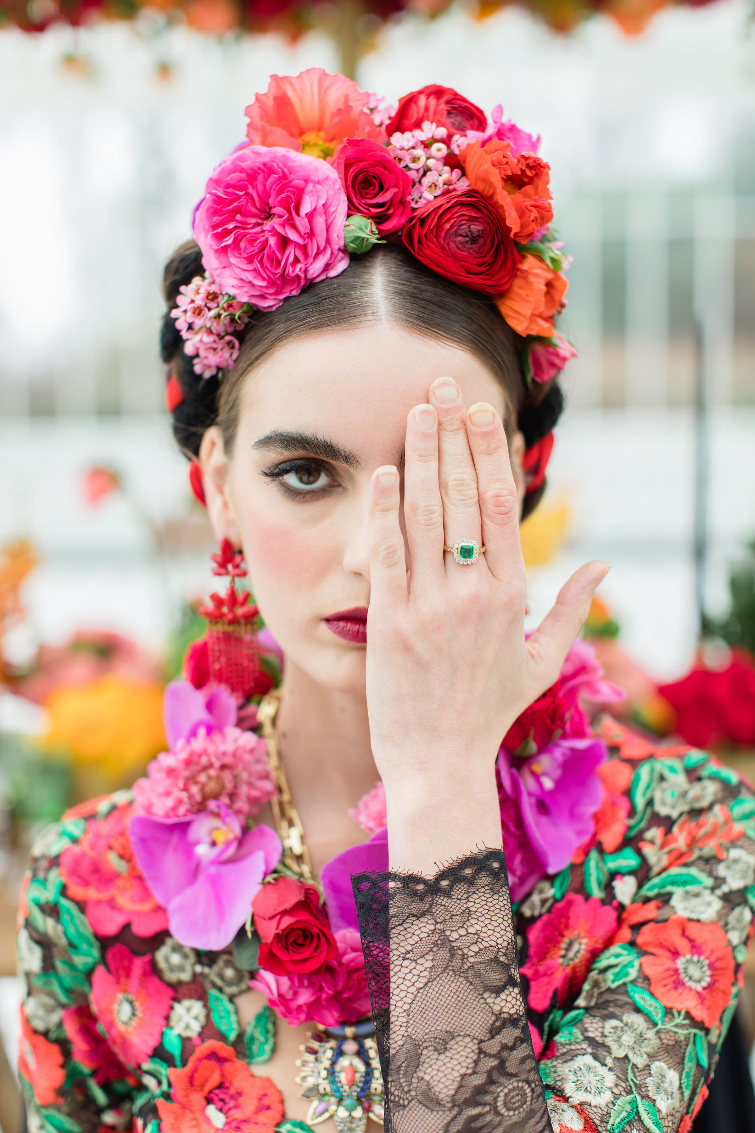 Inspired by Frida Kahlo, a bridal editorial | Joanne Fleming Design | Blog
