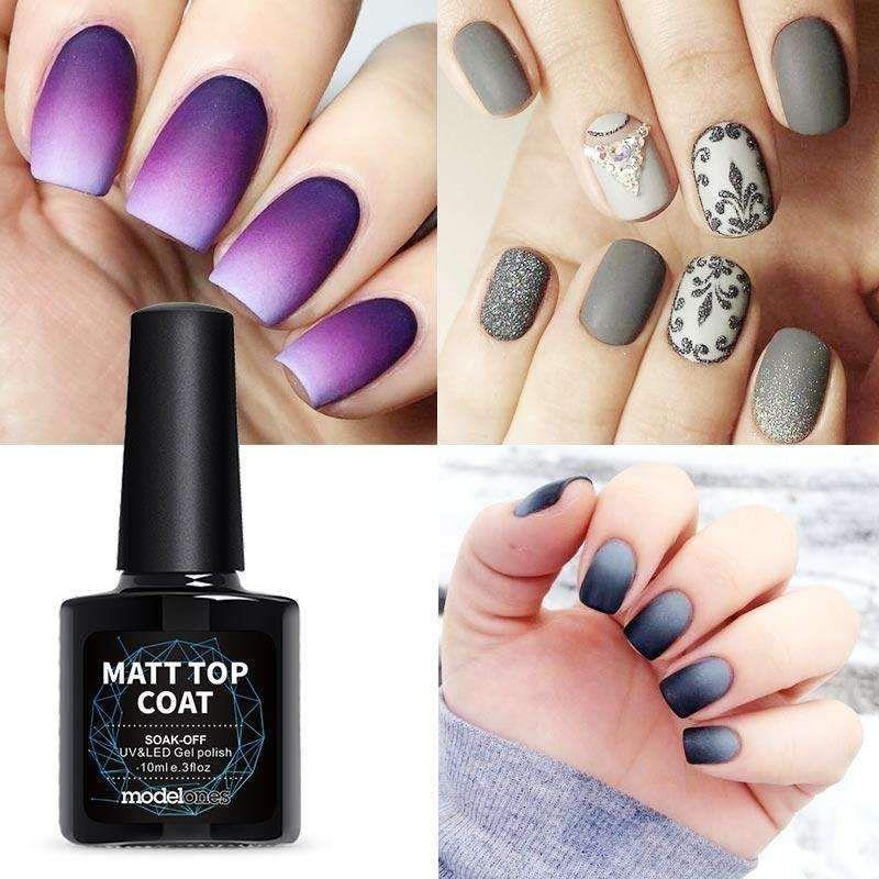 Modelones High Quality Matte Gel Nail Polish Top Coat Diy Nail Style Gel Polish Finish Nail Tips Uv Matte Top Coa Nail Polish Matte Gel Nails Glitter Gel Nails