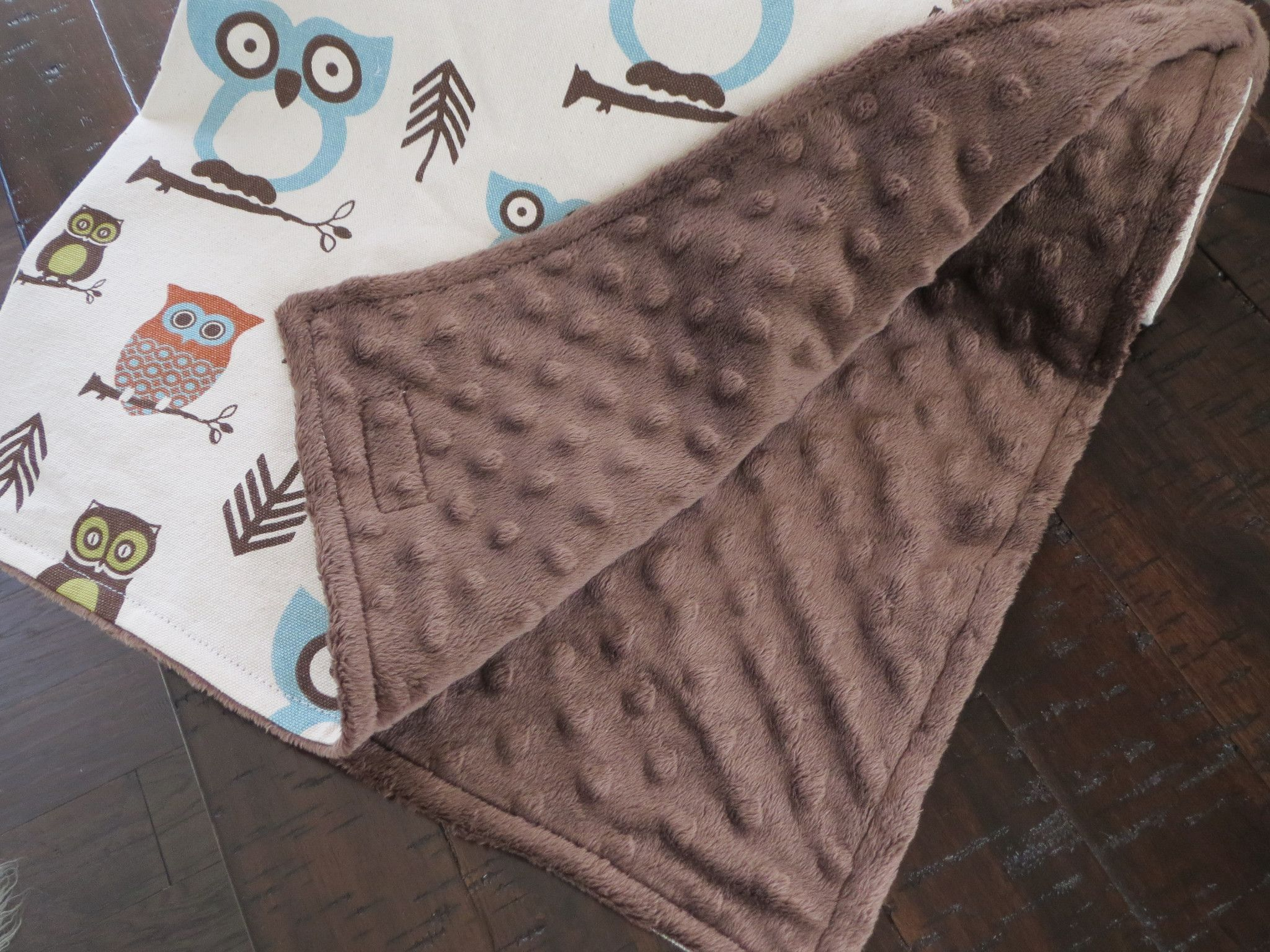 Baby Boy Is Sure To Snuggle With This Owl Baby Blanket For Years To Come
