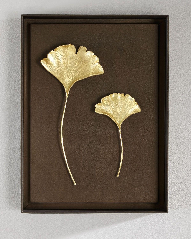 michael aram gingko leaf wall art leaf wall art walls and leaves