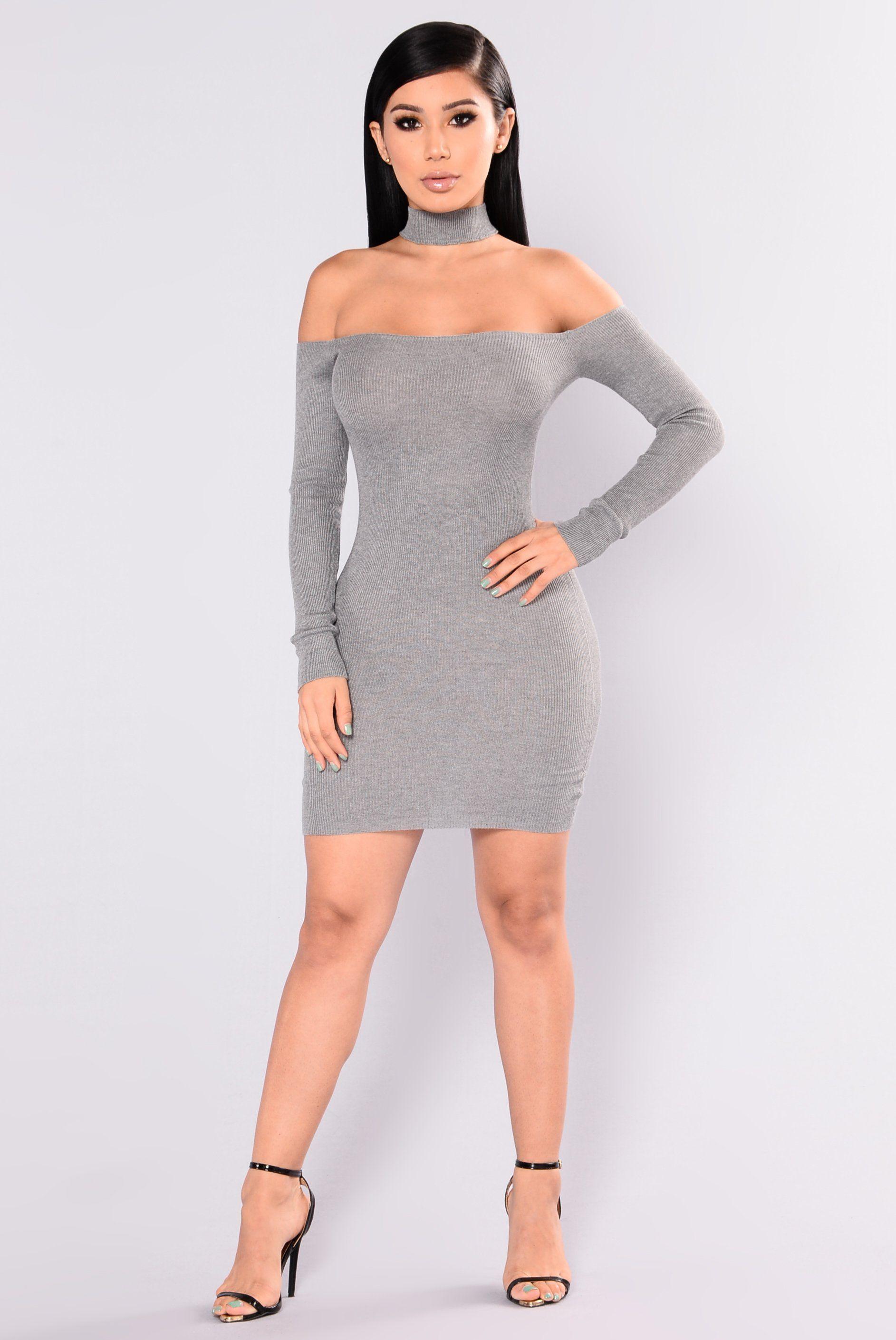 c6fa0932c9f8 Liv Sweater Dress - Heather Grey. Liv Sweater Dress - Heather Grey Women's Fashion  Dresses ...