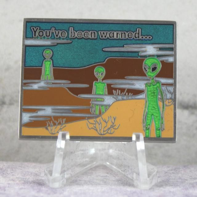 Area 51 Series: Restricted Area Geocoin - Daybreak Restricted