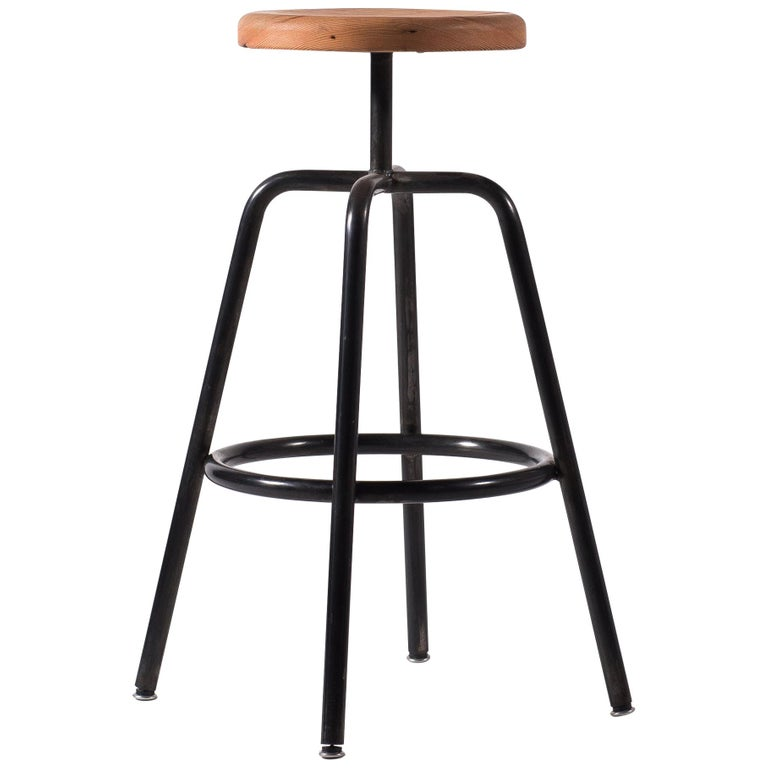 Amazing Utility Bar Stool Bt In Blackened Steel With Douglas Fir Machost Co Dining Chair Design Ideas Machostcouk