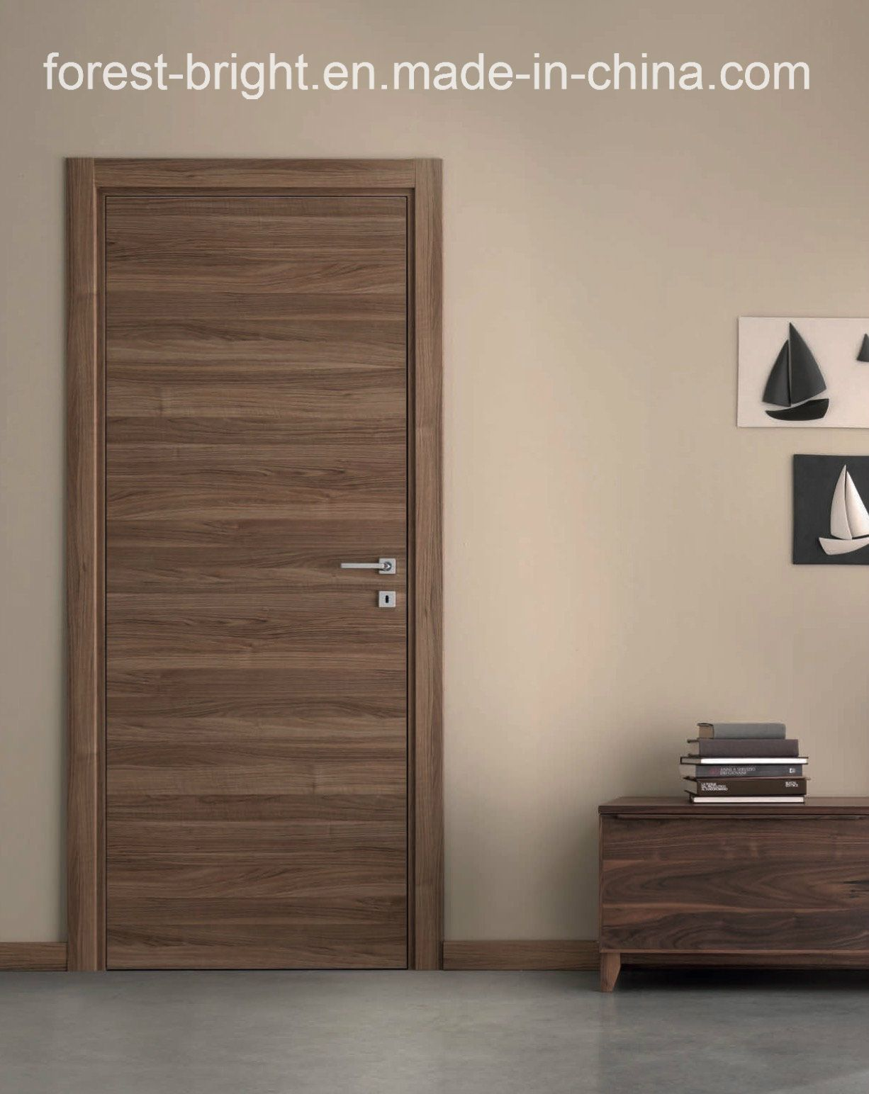 natural veneered wooden flush door design mdf living room door
