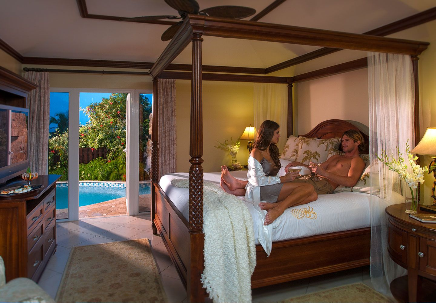 The Ultimate Honeymoon Escape At Sandals Grand Antigua Mediterranean One Bedroom Butler Villa Suite With