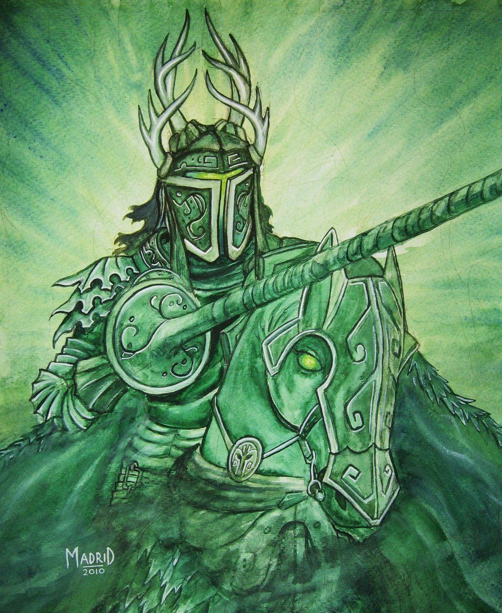 Green Knight Paintings The Green Knight By Littlefrog626