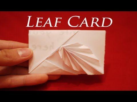 How To Make An Easy Origami Leaf Card Hd Youtube