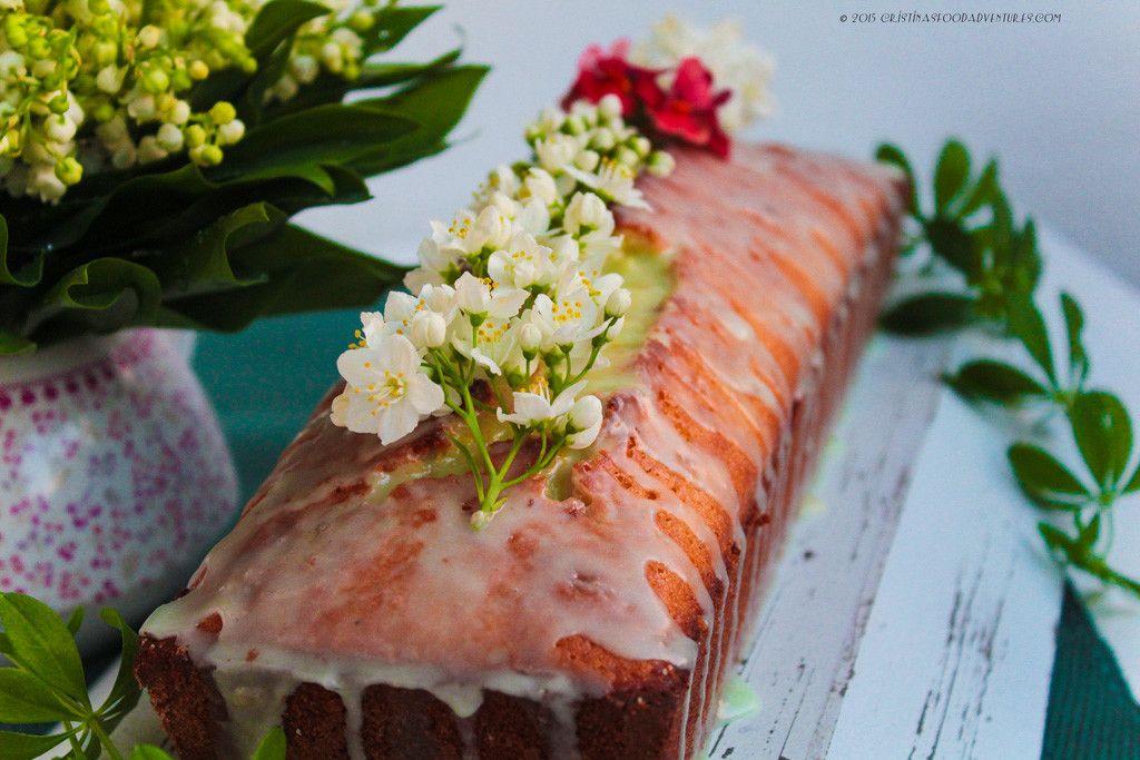 Delicate lemon and sweet woodruff loaf cake with a subtle glaze of sweet woodruff.