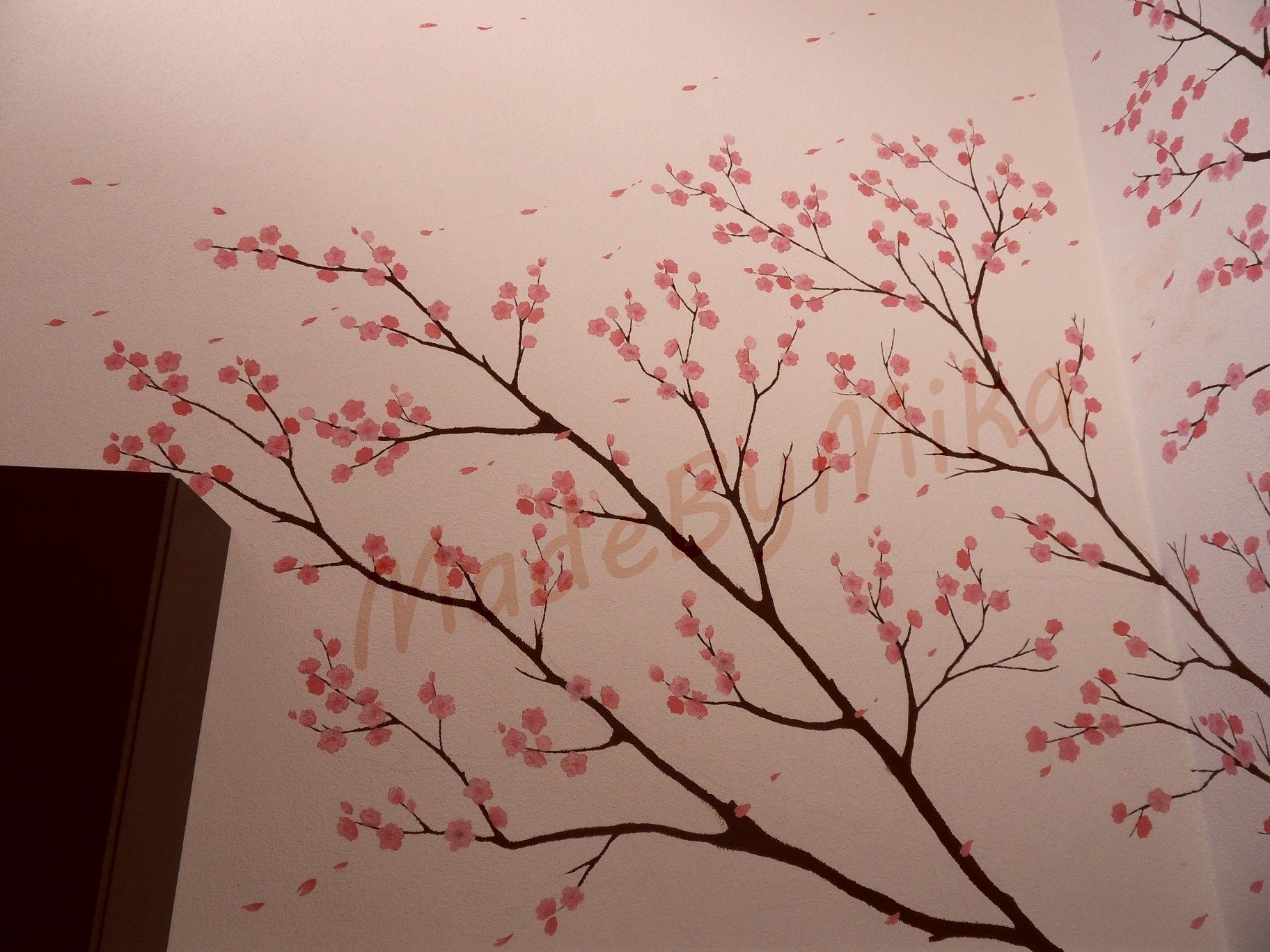 Parete laterale albero di ciliegio pinterest - Albero su parete ...