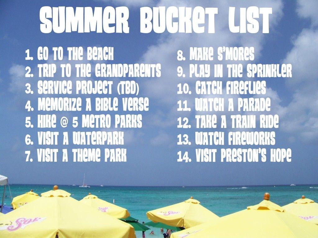Summer Bucket List For Preschoolers Mary Martha Mama