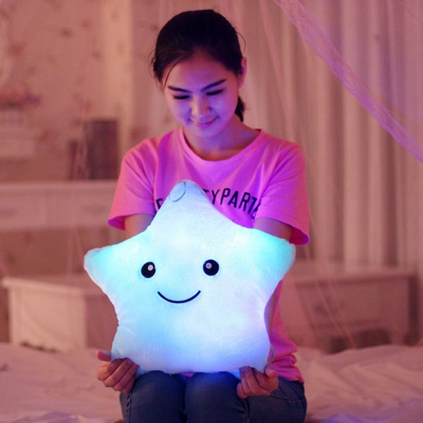 Flashing Led Plush Chair Sofa Cushion Bear Heart Shape Toy Doll Car Gift Birthday Home Decorative Lucky Star Seat Cushion Home & Garden Cushion