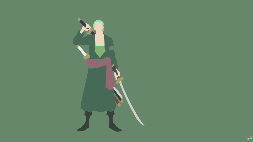 Roronoa Zoro (One Piece) Minimalist Wallpaper by