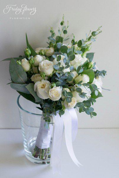 Weißgrüner rustikaler Brautstrauß mit Gartenrosen (David Ostin) und Eukalyptus ...   - Blumensträuße - #Blumensträuße #Brautstrauß #David #Eukalyptus #Gartenrosen #mit #Ostin #Rustikaler #und #Weißgrüner #whitebridalbouquets