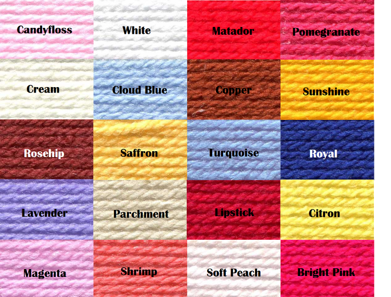 Red Heart Yarn Color Chart Google Search