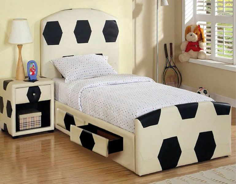 Boys Soccer Theme Bedroom Decor
