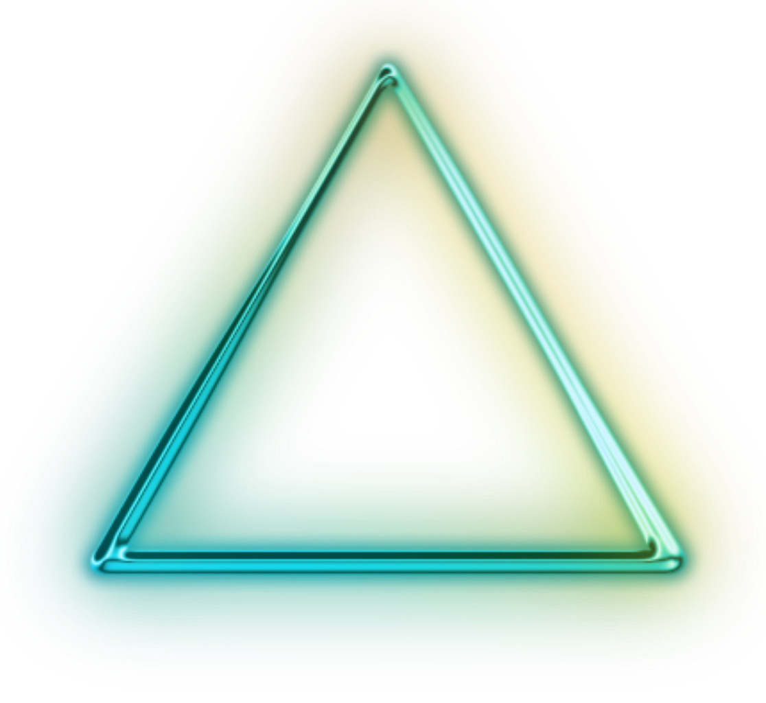 Neon Triangle Triangles Colors Green Pink Blue Spiral Logo Design Art Neon Png Triangle