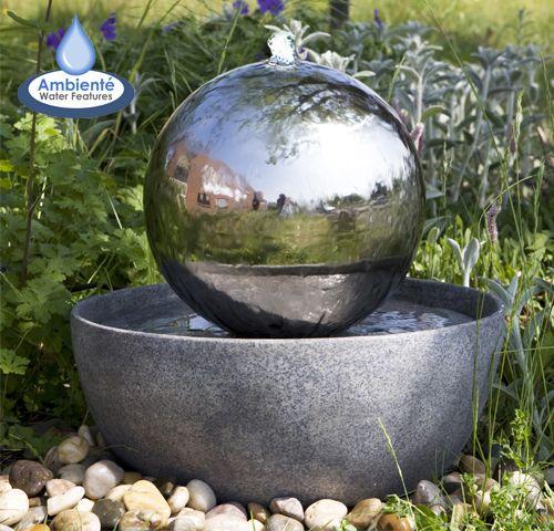 Eclipse Bol Fontein met LED Verlichting | Garden | Pinterest | Gardens