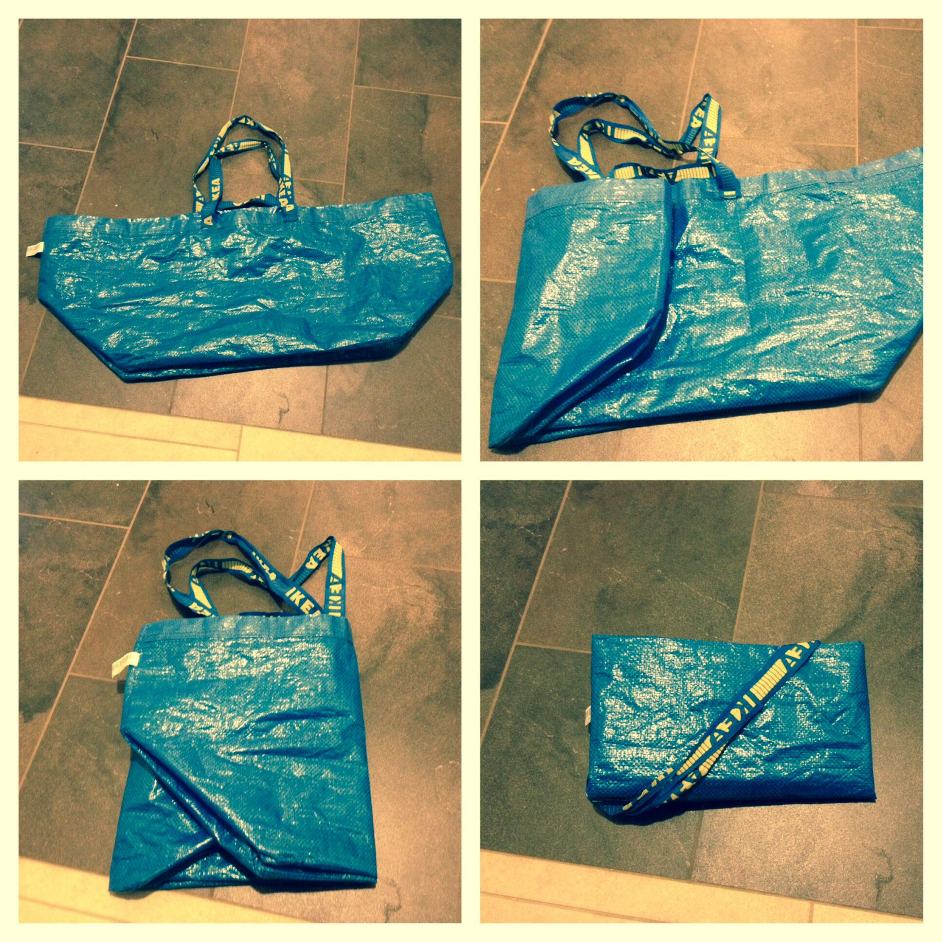 3cc0d99be101 How to fold an IKEA bag. The first step is the hardest but look for ...