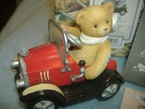 1999 CHERISHED TEDDIES ROGER KIDDY PEDAL CAR FIGURINE You Set My Heart In Motion