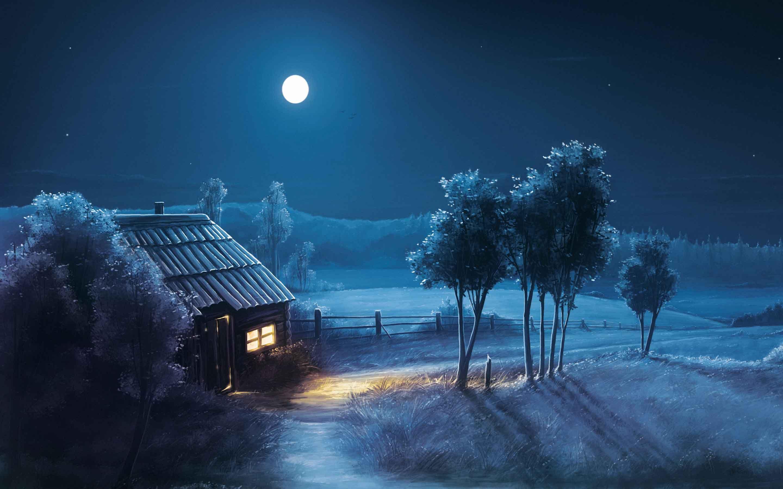Latest Moon Hd Wallpaper Download Night Scenery Good Night Wallpaper Good Night Images Hd