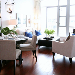 Kerrisdale Design - dining rooms - cherry wood floors, cherry ...