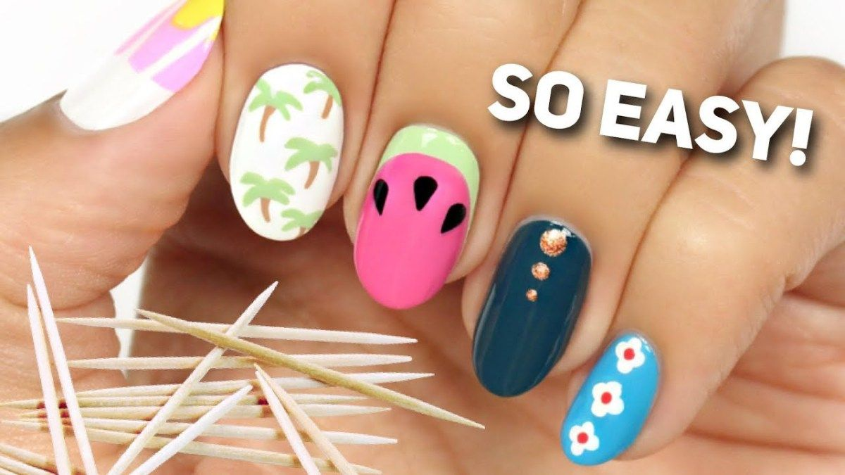 Nail Art For Beginners Using A TOOTHPICK! #2 | Nails | Pinterest ...