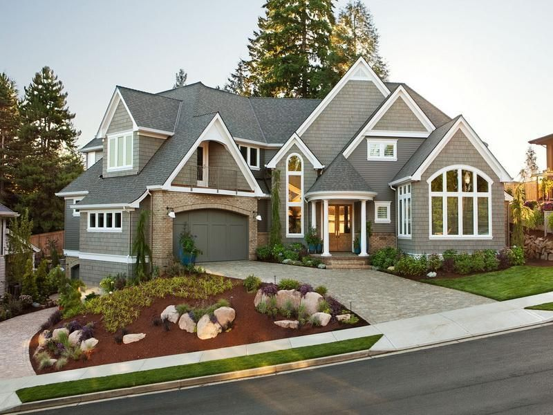 Beautiful ranch homes beautiful ranch house exterior - Paint colors for exterior homes pict ...