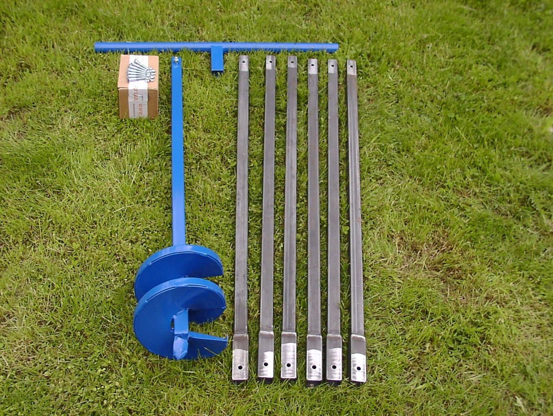 Brunnenbau Set Brunnenbohrer 200mm Kiespumpe 108 Unelte