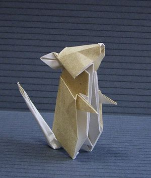 Mouse Tutorial On Web Page 折り紙 簡単 折り紙 ねずみ ねずみ 折り紙