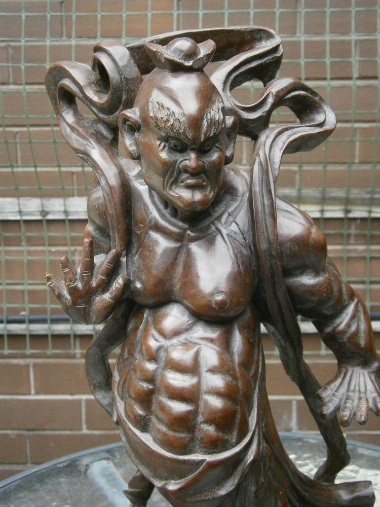 IMAGES NIO GUARDIANS | ... Japanese Meiji Carved Boxwood Nio Guardian C 1880 Warrior Old | eBay
