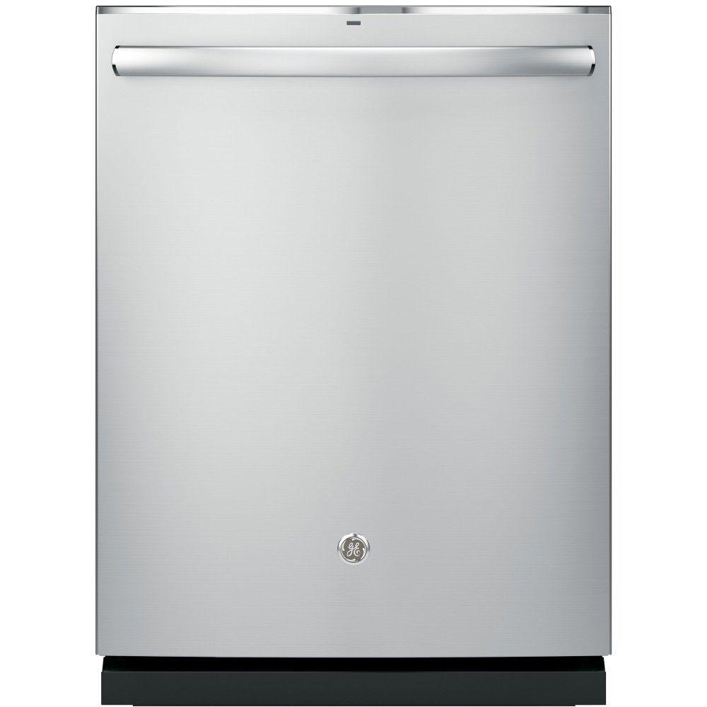 Ge stainless steel interior dishwasher with hidden